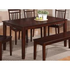 Buy East West Furniture Capri 60x36 Rectangular Dining Table w/ Solid Wood Top in Mahogany on sale online