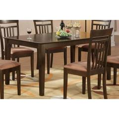 Buy East West Furniture Capri 60x36 Rectangular Dining Table w/ Solid Wood Top on sale online