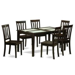 Buy East West Furniture Capri 7 Piece 60x36 Dining Room Set w/ 6 Dining Chairs on sale online