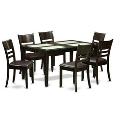 Buy East West Furniture Capri 7 Piece 60x36 Rectangular Dining Room Set w/ 6 Chairs on sale online