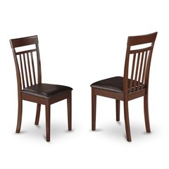 Buy East West Furniture Capri Chair w/ Upholstered Seat in Mahogany (Set of 2) on sale online