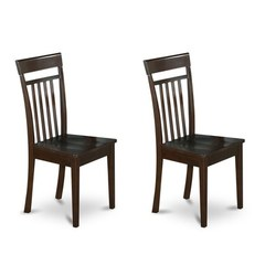 Buy East West Furniture Capri Slat Back Kitchen Dining Chair w/ Wood Seat (Set of 2) on sale online