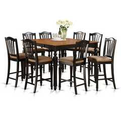 Buy East West Furniture Chelsea 5 Piece 54x54 Square Counter Height Set w/ 4 Chairs on sale online