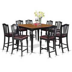 Buy East West Furniture Chelsea 9 Piece 54x54 Square Counter Height Set w/ 8 Stools on sale online