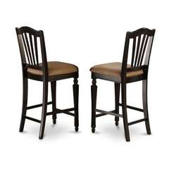 Buy East West Furniture Chelsea Counter Height Stool w/ Upholstered Seat in Black (Set of 2) on sale online