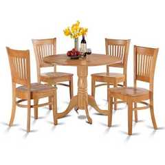 Buy East West Furniture Dublin 5 Piece 42x42 Round Dining Room Set w/ Wooden Chairs on sale online