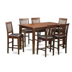 Buy East West Furniture Dudley 7 Piece 60x36 Rectangular Counter Height Table Set w/ 6 Stools on sale online