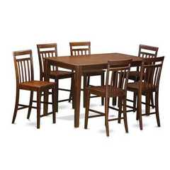 Buy East West Furniture Dudley 7 Piece 60x36 Rectangular Pub Table Set w/ 6 Stools on sale online