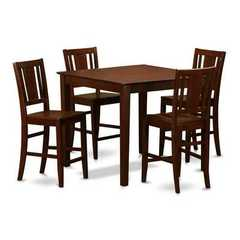Buy East West Furniture East West 5 Piece 42x42 Square Pub Table Set w/ 4 Kitchen Chairs on sale online