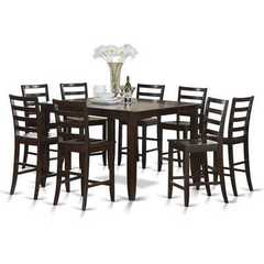 Buy East West Furniture Fairwinds 7 Piece 54x54 Square Counter Height Set w/ 6 Wood Chairs on sale online