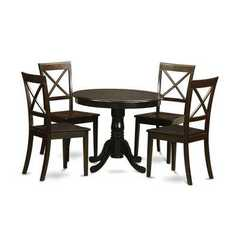 Buy East West Furniture Hartland 5 Piece 42x42 Round Dining Room Set w/ 4 Chairs on sale online