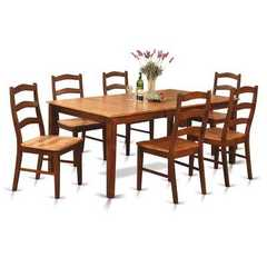 Buy East West Furniture Henley 7 Piece 72x42 Rectangular Dining Room Set w/ Butterfly Leaf on sale online