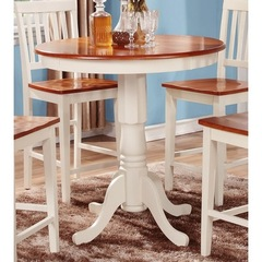 Buy East West Furniture Jackson 36x36 Round Counter Height Table in Buttermilk and Cherry on sale online