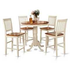Buy East West Furniture Jackson 5 Piece 36x36 Square Counter Height Set w/ 4 Kitchen Chairs on sale online