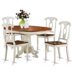 Buy East West Furniture Kenley 5 Piece 60x42 Oval Dining Room Set w/ 4 Kitchen Chairs on sale online