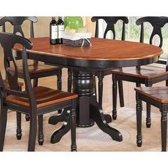 Buy East West Furniture Kenley 60x42 Oval Pedestal Dining Table w/ Butterfly Leaf on sale online