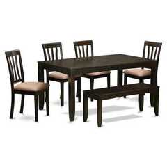 Buy East West Furniture Lynfield 6 Piece 66x36 Dining Table Set w/ Bench on sale online
