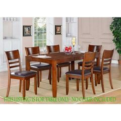 Buy East West Furniture Lynfield 66x36 Rectangular Dining Table w/ Butterfly Leaf in Espresso on sale online