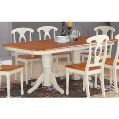 Buy East West Furniture Napoleon 78x40 Rectangular Dining Table in Buttermilk and Cherry on sale online