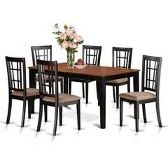 Buy East West Furniture Nicoli 5 Piece 66x36 Rectangular Dining Table Set w/ 4 Dining Chairs on sale online