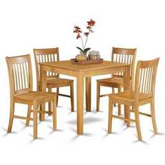 Buy East West Furniture Oxford 3 Piece 36x36 Square Dining Table Set w/ 2 Chairs in Oak on sale online