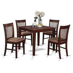 Buy East West Furniture Oxford 5 Piece 36x36 Square Kitchen Table Set w/ 4 Dining Chairs on sale online