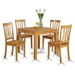 Buy East West Furniture Oxford 5 Piece 36x36 Square Kitchen Table Set w/ 4 Kitchen Chairs on sale online