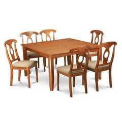 Buy East West Furniture Parfait 9 Piece 54x54 Square Dining Room Set w/ 8 Chairs in Brown on sale online