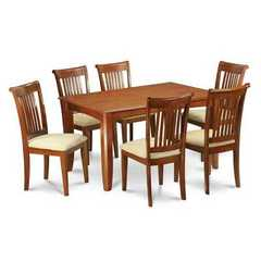 Buy East West Furniture Parfait 9 Piece 54x54 Square Dining Set w/ 8 Dining Chairs in Brown on sale online