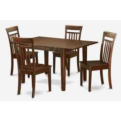 Buy East West Furniture Picasso 5 Piece 60x32 Rectangular Kitchen Table Set w/ 4 Wood Chairs on sale online