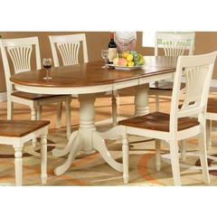 Buy East West Furniture Plainville 78x42 Oval Dining Table White and Cherry on sale online