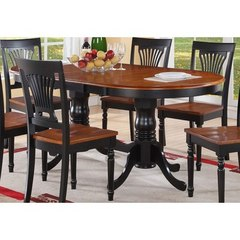 Buy East West Furniture Plainville 78x42 Oval Dining Table w/ Butterfly Leaf on sale online