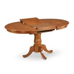 Buy East West Furniture Portland 60x42 Oval Dining Table w/ Butterfly Leaf in Saddle Brown on sale online
