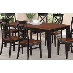 Buy East West Furniture Quincy 78x40 Rectangular Dining Table in Black and Cherry on sale online