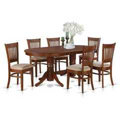 Buy East West Furniture Vancouver 9 Piece 76x40 Oval Dining Room Set w/ Leaf and 8 Chairs on sale online