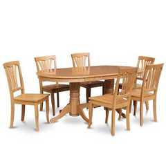 Buy East West Furniture Vancouver 9 Piece 76x40 Oval Dining Table Set w/ 8 Wood Chairs on sale online