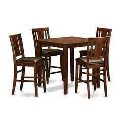 Buy East West Furniture Vernon Pub 5 Piece 36x36 Square Pub Table Set in Mahogany on sale online