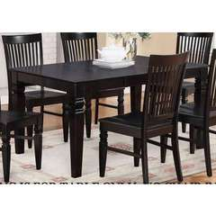 Buy East West Furniture Weston 60x42 Rectangular Dining Table w/ Butterfly Leaf in Black on sale online