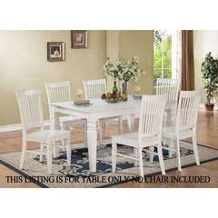 Buy East West Furniture Weston 60x42 Rectangular Dining Table w/ Butterfly Leaf in White on sale online