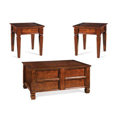 Buy Steve Silver Edgewood 3 Piece Occasional Table Set in Cherry on sale online