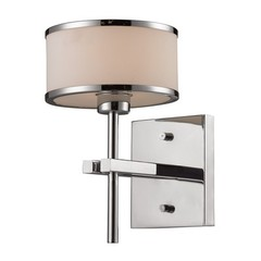 Buy Elk Lighting Utica 1 Light Bath in Polished Chrome and White on sale online