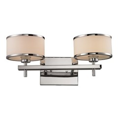 Buy Elk Lighting Utica 2 Light Bath in Polished Chrome and White on sale online