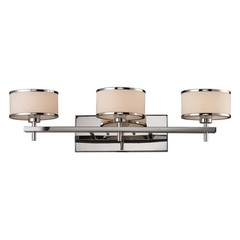 Buy Elk Lighting Utica 3 Light Bath in Polished Chrome and White on sale online