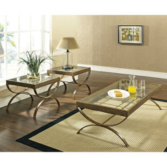 Buy Steve Silver Emerson 3 Piece Occasional Table Set in Gold on sale online