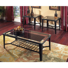 Buy Steve Silver Emery 3 Piece Occasional Table Set in Black Metal on sale online