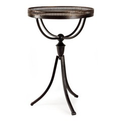 Buy IMAX Worldwide Empire Gallery Tri Footed Metal 16 Inch Round Table on sale online