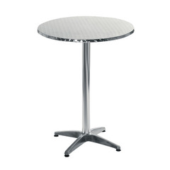 Buy Eurostyle Allan Round 28x28 Bar Table in Stainless Steel & Aluminum on sale online