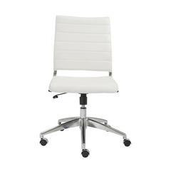 Buy Eurostyle Axel Low Back Armless Office Chair in White & Aluminum on sale online
