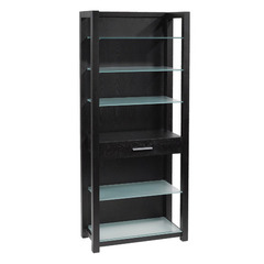 Buy Eurostyle Ballard Glass Shelves in Wenge & Silver Printed Glass on sale online