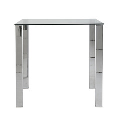 Buy Eurostyle Beth 42x30 Rectangular Bar Table w/ Glass Top on sale online